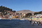Copacabana at Lake Titicaca in Bolivia — Stock Photo