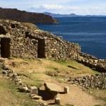 Ruins of Chinkana on Isla del Sol on Lake Titicaca, Bolivia — Stock Photo #58911135