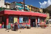 Restaurant in Copacabana, Bolivia — Stock Photo