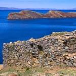 Ruins of Chinkana on Isla del Sol on Lake Titicaca, Bolivia — Stock Photo #59500533