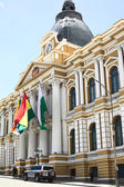 Legislative Palace on Plaza Murillo in La Paz, Bolivia — Stock Photo