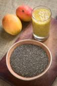 Chia Seeds with Mango Chia Juice — Stock Photo