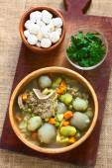 Traditional Bolivian Soup Called Chairo de Tunta — Stock Photo