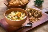 Bolivian Sopa de Mani (Peanut Soup) — Stock Photo
