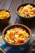 Pasta Salad with Vegetables and Sausage — Stock Photo