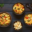 Savory Baked Vegetable Bread Pudding — Stock Photo #69768409