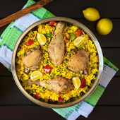 Spanish Chicken Paella — Stock Photo