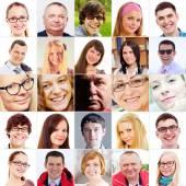 Faces collage — Zdjęcie stockowe