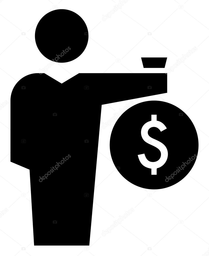 man with money bag icon stock vector  u00a9 furtaev 62462157 money bag outline vector holding money bag vector