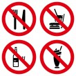 No eating and drinking signs — Stock Vector #62867387