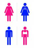 Gay bar restroom signs — Vector de stock