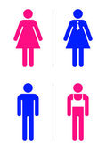Gay bar restroom signs — Stock Vector