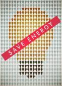 Ahorro de energía — Vector de stock