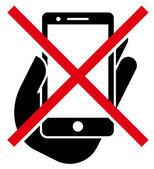 No mobile phones icon — Vecteur