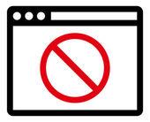 Blocked website icon — Stock Vector