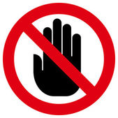 Do not touch icon — Stock Vector