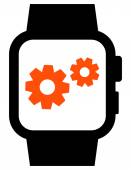 Smartwatch settings icon — Stock Vector