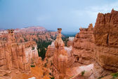 Hoodoos of Bryce Canyon in the rain — Foto Stock