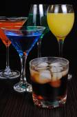 Variety of drinks — Stock Photo
