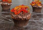 Muffin Halloween — Stock Photo