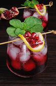 Pomegranate cocktail — Stock Photo