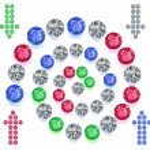 Gems spiral maze game interface set — Stock Vector #60894389