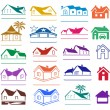 Buildings signs logo set — Stock Vector #68839735