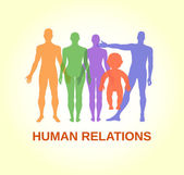 Full length front human relations — Stock Vector