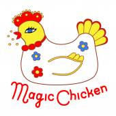 Magic chicken — Stock Vector