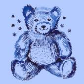 Sitting bear — Stock Vector