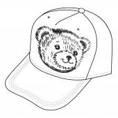 Bear's smiling snout logo on the cap — Stock Vector