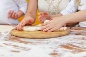 Preparing dough — Stock Photo