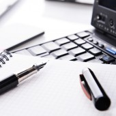 Notebook and  pen — Stock Photo
