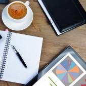 Notebook e caffè — Foto Stock