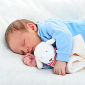 baby with toy — Stock Photo