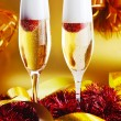 Two glass with sparkling champagne  — Stock Photo #54894191