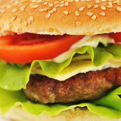 Hamburger with cutlet — Stock Photo