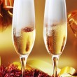 Two glass with champagne  — Stock Photo #58950195