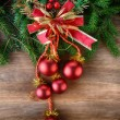 Fir tree with christmas toys — Stock Photo #61635357