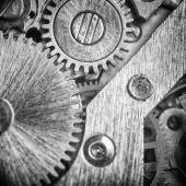 Watch mechanism gears — Stock Photo