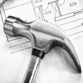 Steel claw hammer — Stock Photo