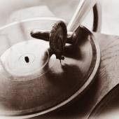 Close up at vintage gramophone — Stock Photo