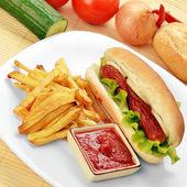 Appetizing  hot dog — Stock Photo