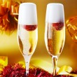 Two glass with champagne — Stock Photo #62783545