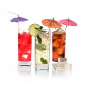 Cocktails in wineglasses — Stock Photo