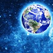 Blue Earth planet — Stock Photo