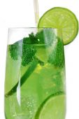 Ice cocktail into glass — Stock Photo