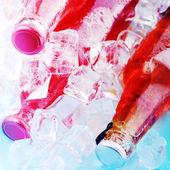Bottles ice drink — Stock fotografie
