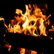 Wooden logs burning — Stock Photo #65427567