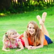 Young mother with daughter — Stock Photo #66487373